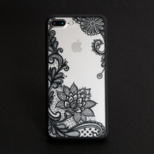Floral Sexy Lace Mandala Case Fashion Vintage Flower Clear Cover For iPhone X 8 7 5 5S SE 6 6S Plus Phone Capa Back