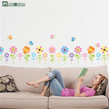 Sun Butterfly Flower Wall Stickers Trade Stickers Window Glass Cartoon Living Room Bedroom Fashion Stickers Wholesale(China)