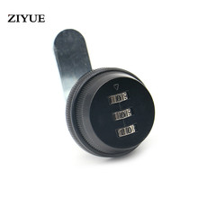 Free Shipping Combination Cabinet Lock Black Zinc Alloy Password Locks Security Home Cam Lock For Mailbox Cabinet Door