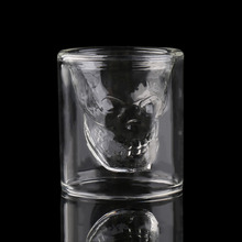 4 Size Creative Designer Skull Head Shot Glass Party Transparent Champagne Cocktails Wine Cup Doomed Drinkware Halloween Gift(China)