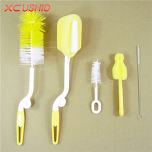 5pcs/lot Baby Bottle Cleaning Brush Milk Bottle Glass Sponge Plastic Brush Baby Feeding Bottle Nipple Tube Brush Cleaning Tools(China)