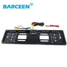 Free shipping European Car License Plate Frame camera  wire car backup camera rainproof function plastic shell material