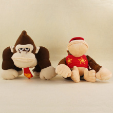 Big Size 20/24cm Super Mario Bros Monkey Donkey Kong Diddy Kong Soft Stuffed Plush Toys Kids Gifts