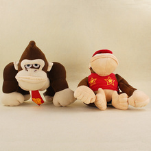 Big Size 20/24cm Super Mario Bros Monkey Donkey Kong Diddy Kong Soft Stuffed Plush Toys Kids Gifts(China)