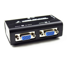 NEWEST FENGRU VGA video splitter duplicator 1-in-2-out 250MHz device cascadedable Boots Video Signals 65m 1920*1440