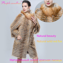 Purple Sandbar Fur Genuine Fox Fur Fourrure Natural Red Fox Fur Coat Female Women's Coats Winter