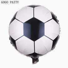 GOGO PAITY  Free Shipping 18 inch round football aluminum balloon ball children's toys wholesale
