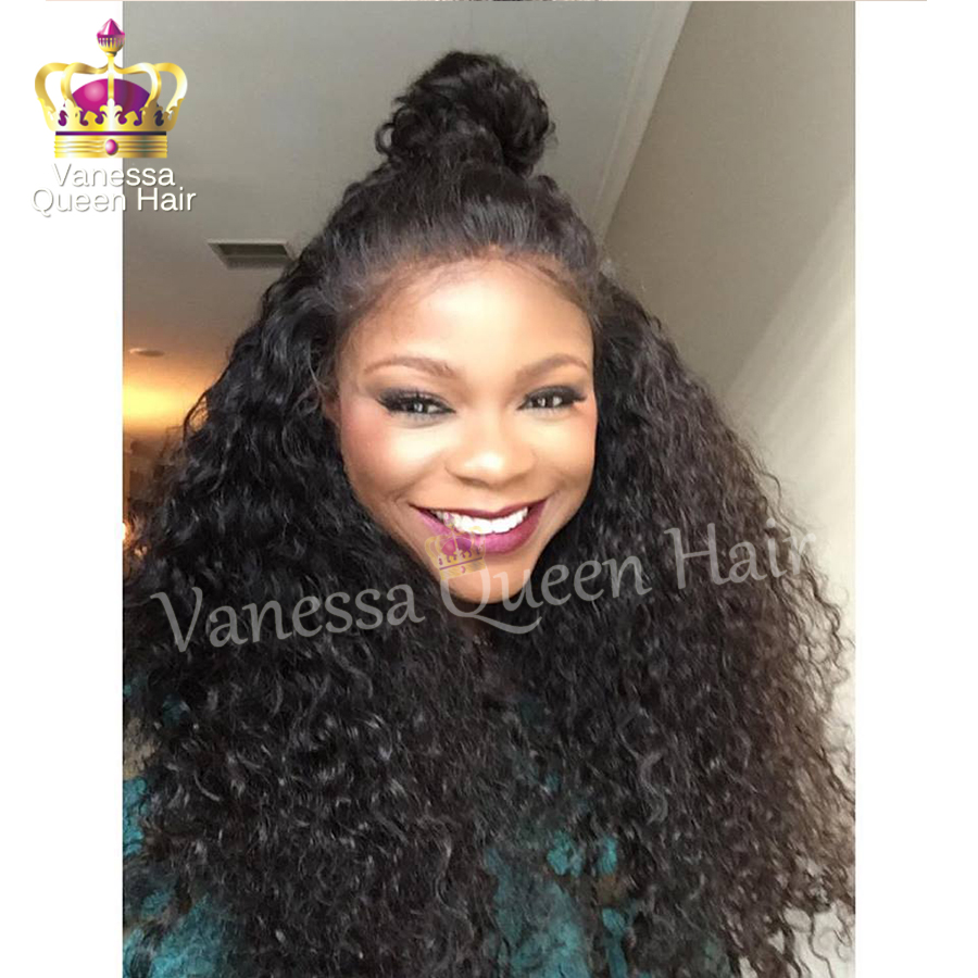 Long Natural Soft Curly Synthetic Lace Front Wigs Water Wavy Wig For Black Women Glueless Wigs Heat Resistant Hair<br><br>Aliexpress
