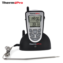 ThermoPro TP-09 300 ft Wireless Digital Cooking Thermometer For Barbecue Oven Meat BBQ Smoker(China)