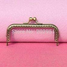 10pcs/lot wholesale DIY 10.5cm Antique Brass Metal Purse Frame kiss clasp Handle for Bag Craft bag making sew ,Freeshipping XF01