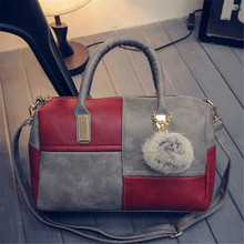 Woman Bag 2017 New Pillow Type Woman Shoulder Bag Geometric Pattern Woman Boston Bag Shopping Trip Large Capacity Woman Handbag(China)