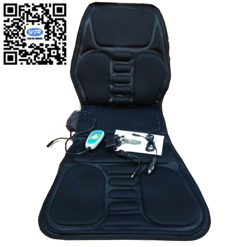 HFR-858-1E HealthForever Brand Non Woven Fabric DC12V Adaptor 1A Home &amp; Car Massage Cushion Pad with Vibrating Heat Function<br>