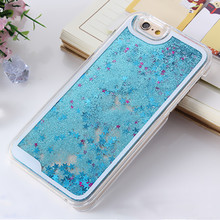 Fashion Liquid Glitter meteor sand sequins Colorful Dynamic Transparent Hard shell Phone Case Cover For iphone 4s/5 SE/6 6s Plus