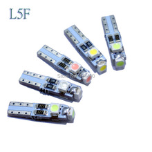 5 pieces X Car Auto LED T5 3 led smd 3528 Wedge LED Light Bulb Lamp 3SMD White Green Red Yellow pink crystal blue