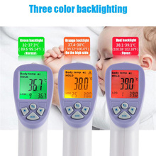digital non-contact room lcd thermometer ir infrared thermometer forehead baby temperature measurement thermometer(China)