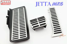 Pedal Cover Set Fits VW Jetta MK6 New Beetle AT, Gas+ Brake+ Foot Rest Pedal
