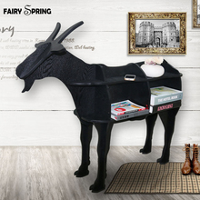 European Creative sheep goat Side Table Nordic style log home furnishing decoration hotel restaurant bar decor free shipping(China)