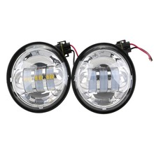 "One Pair 4-1/2"" Aluminum LED Auxiliary Spot Fog Passing Light Lamp For Harley Touring"
