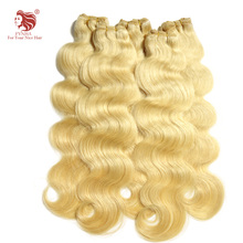 wholesale 12-30inch Grade 6A European hair extensions remy body wave perfect human hair weaves 613# free shipping