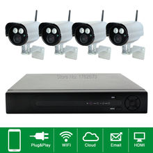 security camera kit long distance night vision to 50m distance 1280x720 wifi ip camera 1PCS 4ch NVR