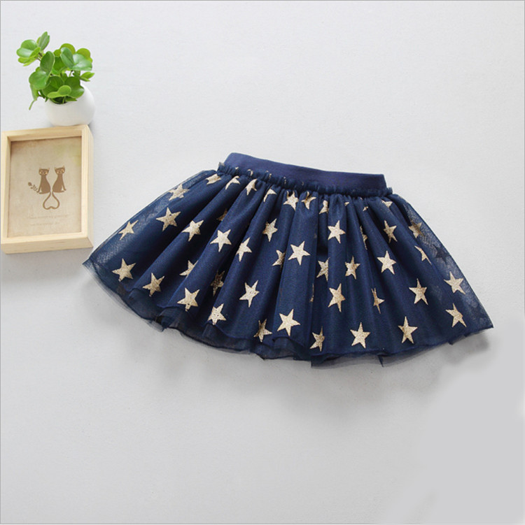Fanfiluca New Baby Girl Clothes Tutu Skirt Ballerina Pentagram Children Ballet Skirts Party Dance Princess Girl Tulle Miniskirt005