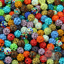 JHNBY 10mm 100PCS Promotional shamballa Clay Charm Disco Ball crystal Loose beads supplies jewelry making bracelet DIY()