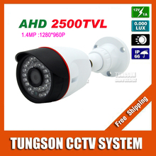 New HD 1.40MP AHD 960P Micro CCTV Camera 2500TVL Outdoor Mini 36led infrared White Bullet Security Video Surveillance