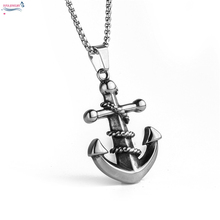 Buy Anchor pendant necklaces mens jewelry Fashion stainless titanium steel chain necklace women boys hot simple 60mm length for $4.29 in AliExpress store