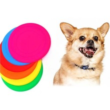 Pets Flying Discs Soft Ring Frisbee Dog Toys Pets Puppy Flyer Fetch Toys Play Random color LH8s(China)