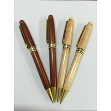 10 pcs/lot  Log and Red  2 Colors Creative wooden ballpoint  pen  for business and gifts black  0.7mm pen office and school