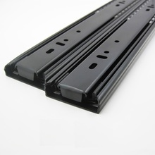 "1Pairs/Lot  14"" / 35CM  H4512  Heavy Duty Telescopic ball bearing drawer slide Slides Runner 1.2*1.2*1.2mm Thick Full Extension"