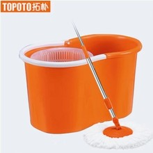 Explosion-proof hand pressure rotating double mop hand with 6pcs mopheads(China)