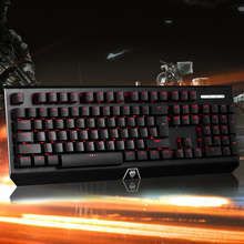 Gaming Keyboard Optical Axis Mechanical Keyboard Waterproof 104 Keys Anti-Ghosting USB Wired Red Backlight for PC Laptop Desktop(China)