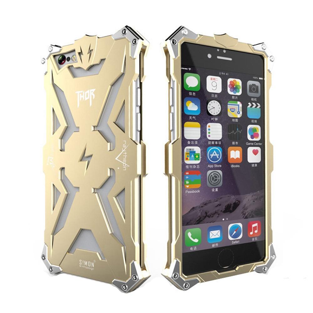 Simon Metal Aluminum Luxury Tough Armor THOR IRON MAN Phone font b Cases b font for