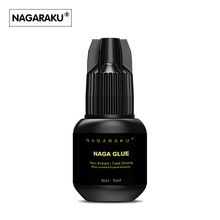 NAGARAKU 5ml,Fast dry 1~3 senconds no odor no simulation lash glue eyelash glue eyelash extension glue(China)