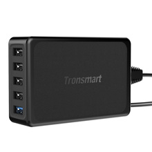 Tronsmart U5PTA USB Charger Qualcomm Quick Charge 3.0 QC3.0 USB Smart Charger for Phone Tablet Power Bank EU/USType In Stock