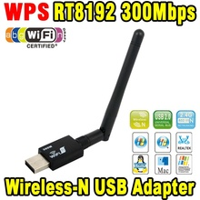 Networking Card Wifi RT8192 300Mbps USB WiFi Wireless Network WI-FI LAN Adapter & Antenna Computer Accessories Support WPS