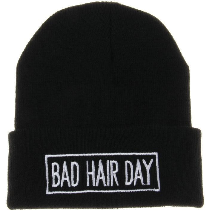 Fashion BAD HAIR DAY Cap Men Casual Hip-Hop Hats Knitted Wool Skullies Beanie Warm Winter Hat for Women RX108Îäåæäà è àêñåññóàðû<br><br><br>Aliexpress