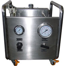 Free shipping Wellness  Model:WS-AH80-C   Portable air driven oil pressure test pump unit for wellhead industry