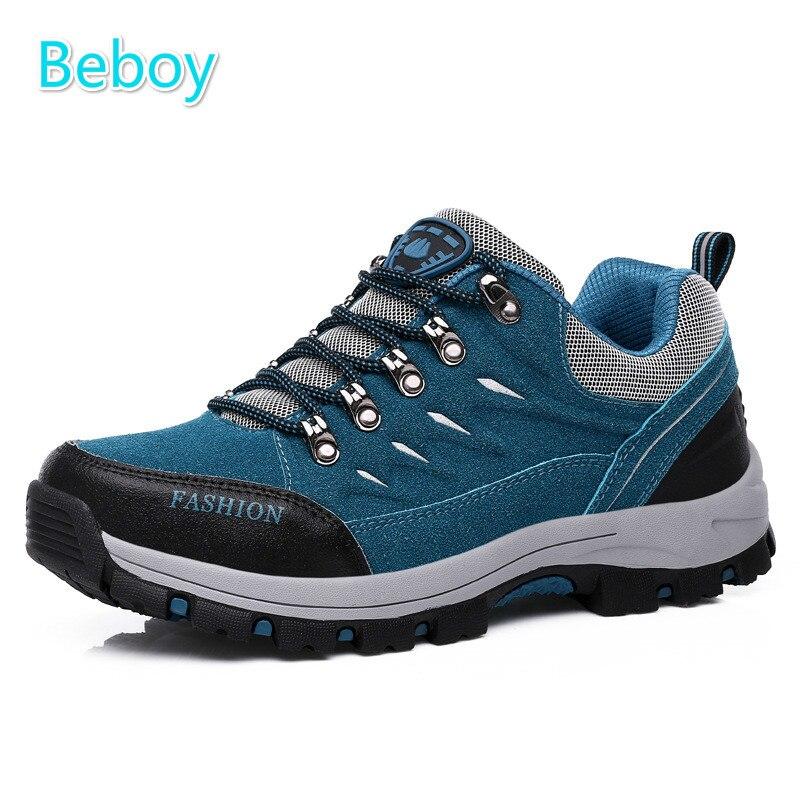 Beboy Lightweight Hiking Shoes Men Women Waterproof Trekking Climbing Shoes Sneakers Genuine Leather Outdoor Sport Hunting Shoes<br><br>Aliexpress