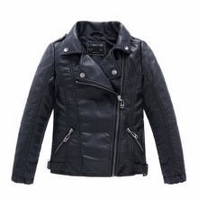 Fashion Children Outerwear Coat Waterproof Baby Boys and Girls Leather Jackets For Age 1-12 Years Old(China)