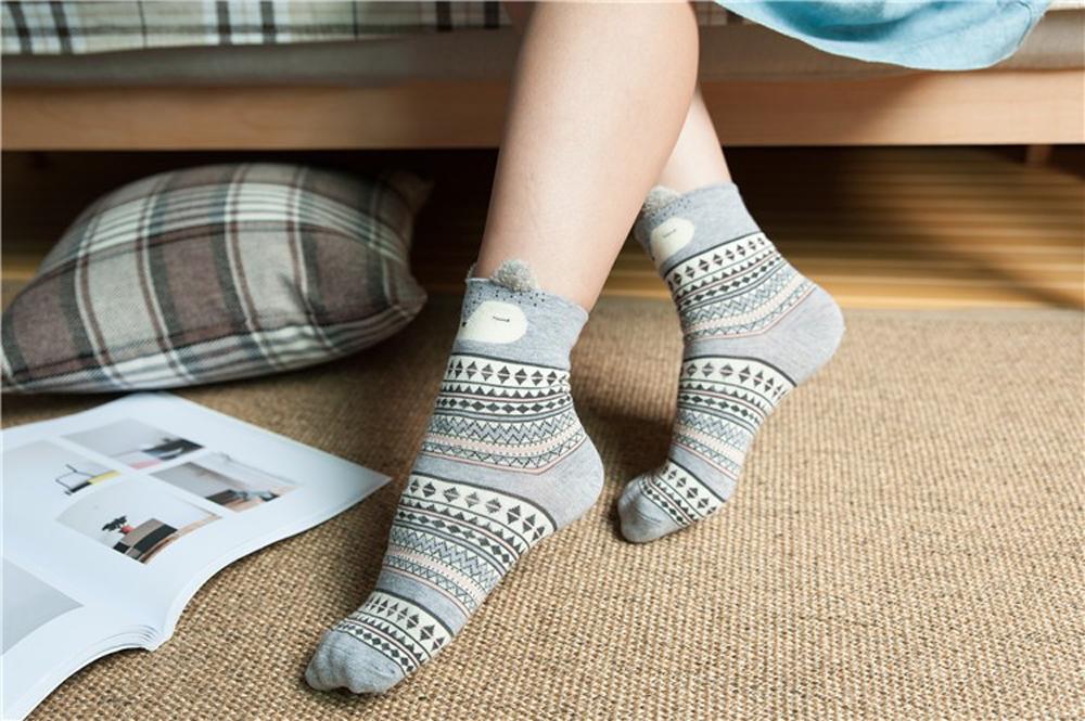 17 New Lovely Cartoon Women Socks High Quality Cotton Sox Japanese Fashion Style Socks Autumn Winter Warm Socks For lady Girls 12