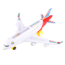 Electric Airplane Moving Flashing Lights Sounds Child Kids Aeroplane Toy