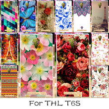 TAOYUNXI Silicone Mobile Phone Case For THL T6 T6S T6C T6 PRO 5.0 inch Bag Cover For THL T6 T6 PRO Colorful Flower Painted Case(China)
