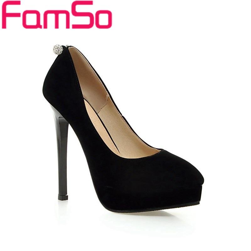 Plus Size34-43 2017 New Women pumps apricot Office Shoes black red high heels Autumn Platforms Pumps Shoes Pumps PS1803<br><br>Aliexpress