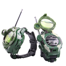 2PCS Children Toy Walkie Talkie Watch Child Kids Watches Outdoor Game Interphone Magical Clock Gift(China)