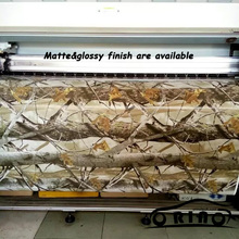 High Quality 1.52m Width Realtree Camouflage Wraps MATTE / GLOSSY Finish Vehicle Body Wrapping Film Sticker Air Free Bubble