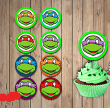 Teenage Mutant Ninja Turtles Party Sticker,Cupcake Toppers,Birthday Party Decorations kids Sticker Label for Birthday Candy