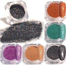 Holographic Colorful Shining Laser Nail Glitter Powder Ultra-thin 11 Colors Nail Dust Manicure Nail Art Gel Glitter Manicure