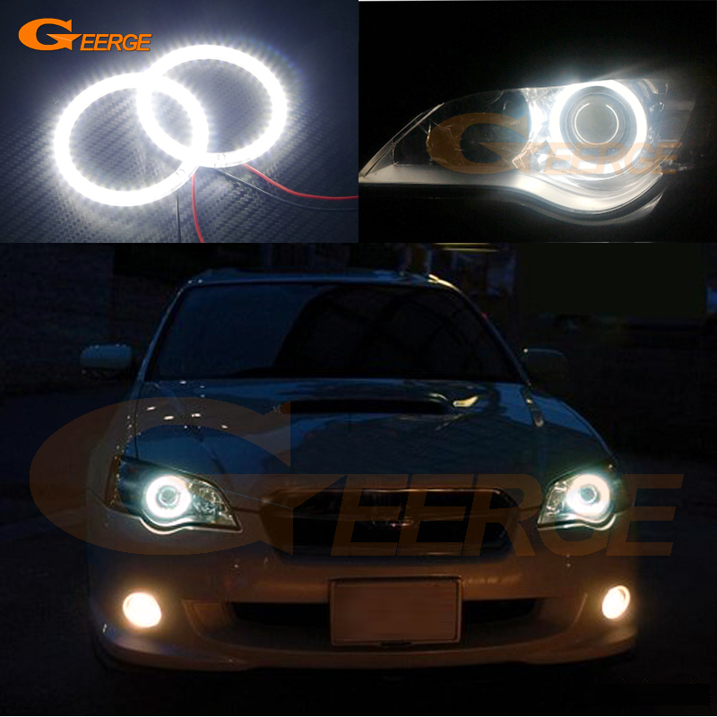 For Subaru Legacy 2007 2008 2009 Excellent led Angel Eyes Ultra bright illumination smd led Angel Eyes Halo Ring kit<br>